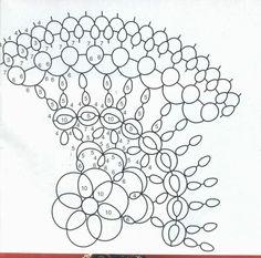 Znalezione obrazy dla zapytania schematy serwetek frywolitkowych