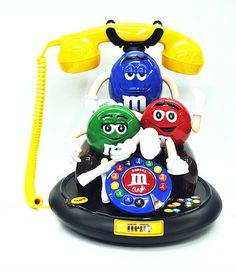 MM 3 Characters Animated Talking Telephone Phone - Corded