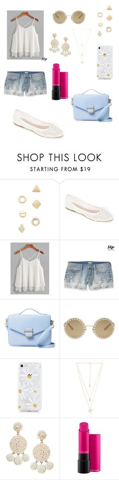 """Untitled #392"" by aya-kaddoura ❤ liked on Polyvore featuring Shashi, Summit by White Mountain, Aéropostale, Cynthia Rowley, Dolce&Gabbana, Natalie B, Humble Chic and MAC Cosmetics"
