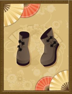 Shall we date?: Blood in Roses+【Special Dating】 Ancient BeautyMandarin Button Booties (Brown)