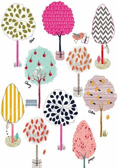 Card designs by Anna Victoria featured on the Print and Pattern blog