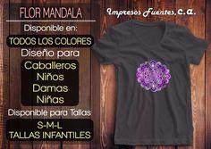 Franelas De Flor De Mandala Todos Los Colores - Bs. 13.000,00 en Mercado Libre
