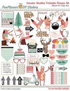 50% OFF SALE Sweater Weather Printable Planner Kit 5 PDFs by DigiScrapDelights #christmas #planner #stickers #layout #printable #decoration #decor #plannerlove #clean #winter #sweater #weather #sweaterweather #digiscrapdelights #pomplanner #thanksgiving