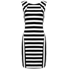 Lipsy Love Michelle Keegan Ripple Stripe Bodycon Dress 2017 New