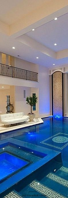 Majestic House Indoor Swimming Pool With Square Shaped