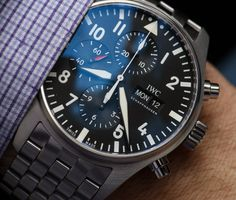 """IWC Pilot's Watch Chronograph 3777 Timepieces For 2016 Hands-On - by Ariel Adams - See the review at: aBlogtoWatch.com """"At SIHH 2016, the theme for Schaffhausen-based IWC was once again pilot watches. As part of this year's new models, IWC introduced a new reference 3777 Pilot's Watch Chronograph range that builds upon the popular collection with new refinements and appeal. In this article, I will be discussing two models..."""""""
