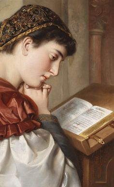 In Prayer by Girl Reading Book, Woman Reading, Human Body Proportions, Books To Read For Women, Magnum Opus, Renaissance Paintings, Female Art, The Past, Art Gallery