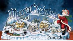 Musical Illuminated Miniature Village Figurine - A first-ever Thomas Kinkade Christmas village decoration with lights, music, motion and illuminated Merry Christmas sign, only from The Bradford Exchange Link Merry Christmas Status, Merry Christmas Quotes, Merry Christmas Greetings, Christmas Greeting Cards, Merry Xmas, French Christmas, Christmas Town, Christmas Scenes, Christmas Glitter