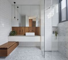 Modern Scandinavian Bathroom Interior In White - Interior Design Ideas & Home Decorating Inspiration - moercar Bathroom Modern Scandinavian Bathroom Interior In White Laundry In Bathroom, Bathroom Renos, Simple Bathroom, Bathroom Renovations, Master Bathroom, Small Laundry, Bathroom Storage, Bathroom Grey, Remodel Bathroom