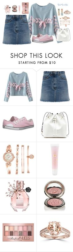 """Pretty Pink Ribbon; 18 January 2016"" by silent-snowflake ❤ liked on Polyvore featuring Chicnova Fashion, Marc by Marc Jacobs, Converse, Sole Society, Anne Klein, Lancôme, Viktor & Rolf, Chantecaille, Maybelline and Faraone Mennella by R.F.M.A.S."