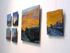 Ashley Frost's paintings installed at Stella Downer Fine Art, 2 Danks St, Waterloo