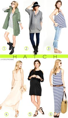"""adorable maternity clothes ..    HATCH was """"hatched"""" as a finely edited collection of chic and flattering wardrobe essentials cool and busy women can truly wear before, during, and after pregnancy. Every HATCH piece was designed to be ultra elegant, modern, and alluringly comfy."""