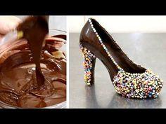 How To Make A Chocolate Shoe - http://cakesmania.net/how-to-make-a-chocolate-shoe/