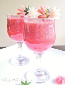 Melon-berry Lemonade (Non Alcoholic beverage) OR add a little something to give it a kick.
