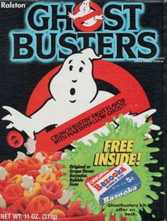 All about Ghostbusters Cereal from Ralston - pictures and information including commercials and cereal boxes if available. You can vote for Ghostbusters or leave a comment. Bowl Of Cereal, Cereal Boxes, Cornflakes, Cereal Killer, Def Not, Watch Cartoons, Ghost Busters, Breakfast Cereal, Breakfast Items