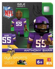#55 Anthony Barr Minnesota Vikings Linebacker-Limited Edition OYO minifigure
