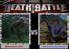 Death Battle Spinosaurus vs Sail-Backed Sharptooth by SuperMarioFan65 on DeviantArt Dinosaur Fight, Baby Dinosaurs, Spinosaurus, A Cartoon, Jurassic Park, Detailed Image, A Good Man, Sailing, Battle