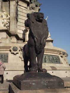 Lion- Columbus Monument- Barcelona