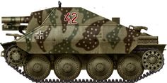 Fictional livery of a 15 cm s.I.G 33/2 (Sf) auf Jagdpanzer 38(t) spring deployment on the Eastern Front 1945 livery