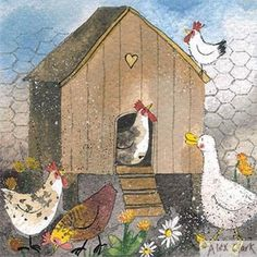 Chicken House Birthday Card | Greetings Cards | Alex Clark Art
