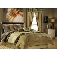 11 Piece Queen Sydney Bedding Bed in a Bag Set