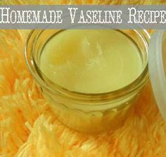 Store bought Vaseline contains dangerous petroleum products that we don't want to be putting on our skin.   Instead make this natural version using only 2 ingredients!