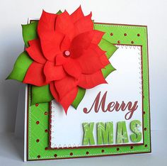 Free Christmas Cut Files - Kat's Adventures in paper crafting. Flower Cards, Paper Flowers, Make Your Own Stencils, Poinsettia Cards, Beautiful Christmas Cards, Free Christmas Printables, Bird Cards, Handmade Christmas, Christmas Ideas