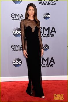 Lily Aldridge's Sexy Sheer Dress Shows Off Her Assets at CMA Awards 2014 | lily aldridge sheer dress at cmas 2014 03 - Photo