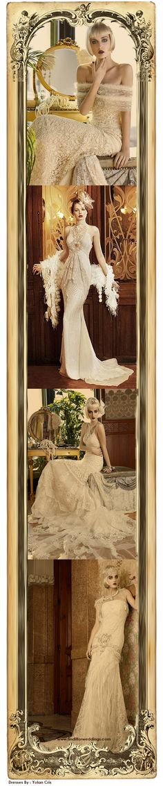 1920's style wedding inspiration dresses - by Yolan Cris - @~ Mlle