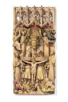 The Victoria and Albert Museum    'The Holy Trinity with the Virgin, St. John and Symbols of the Four Evangelists' (c. 1450-1470)