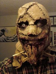 Scary scarecrow mask for Halloween!!
