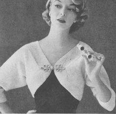1950s Vintage Shrug Bolero Knitting Pattern PDF 5502. $3.74, via Etsy.