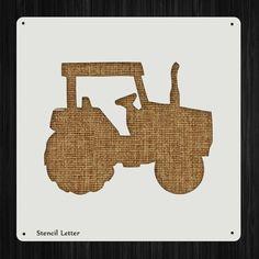 Farm Tractor Style 777, DIY Plastic Stencil Acrylic Mylar Reusable