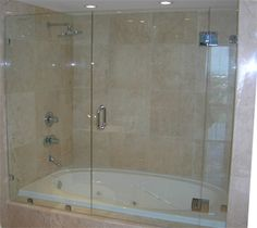 frameless glass shower doors custom shower enclosures seameless bypass sliding glass - Tub Shower Doors