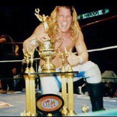 I won a trophy once..... #Mexico #CMLL #CorazonDeLeon #TBT #notetheblackstreakinmyhair #notsurewhyididthat #1993Swag