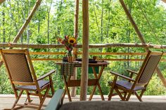 The tents at Firelight Camps in Ithaca, New York