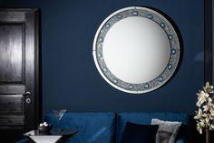 Luxusné dizajnové zrkadlo s kryštálmi a kameňom. Blue Feature Wall Living Room, Spiegel Online, Magic Eyes, Your Space, Agate, Stencil, Minimalism, Neon, Elegant