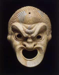 An example of both a stock character and a mask used in Ancient Greece.Terracotta mask of the Leading Slave a stock character used within Greek plays. Ancient Greece, Ancient Rome, Greek Plays, Ancient Greek Theatre, Lion Mask, Greek Tragedy, Art Premier, Art Sculpture, Masks Art