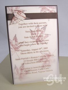 Wedding Invitations | Josee Smuck-Stampin' Up! Canada Demonstrator
