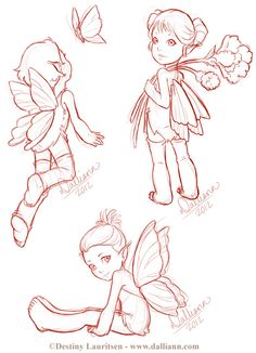 Dalliann – Illustration & Design by Destiny Lauritsen » Fairy Sketches