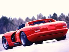 1989 viper future | 1989 Dodge Viper RT 10 Concept Car Red rvl