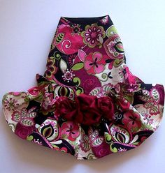 Floral Dog Dresses Moon Garden Dog Clothes Fur Baby by miascloset, $6.00