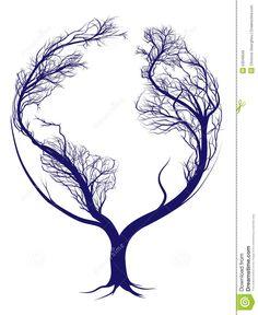 Árvore Da Terra Ilustração do Vetor - Imagem: 53049559