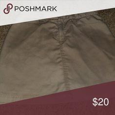 Khaki uniform skirt Uniform skirt with inner shorts classroom Skirts