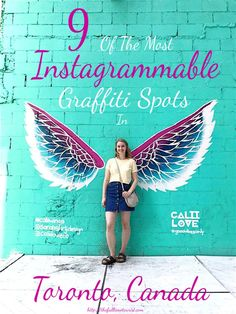 Toronto's graffiti scene is on the rise- some even say it's some of the best street art in the world! From well-known spots like Graffiti Alley and Cali Love to the lesser-known Be Good mural, here are 9 of the most Instagrammable graffiti spots in Toronto! The Full-Time Tourist © Graffiti | Street Art | Toronto Canada | Things To See Toronto | Things To Do Toronto | Instagram