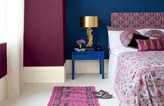 Sumptuous Moroccan inspired bedroom colour scheme