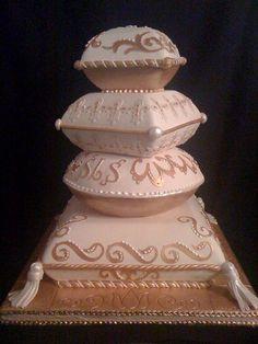 50 Cute and Creative Pillow Wedding Cake - VIs-Wed Amazing Wedding Cakes, Elegant Wedding Cakes, Elegant Cakes, Wedding Cake Designs, Wedding Cake Toppers, Amazing Cakes, Pillow Wedding Cakes, Pillow Cakes, Ivory Wedding Cake