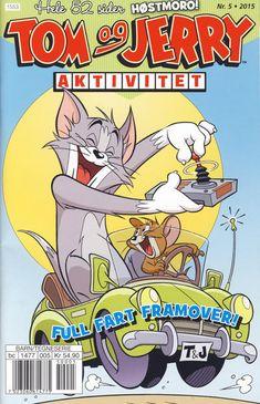 GCD :: Cover :: Tom og Jerry Aktivitetshefte; Tom og Jerry Aktivitet #5/2015 Tom Og Jerry, Daffy Duck, Comics Story, Looney Tunes, Printing Services, Funny Animals, Toms, Cover, Graphic Novels