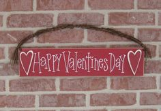 HAPPY VALENTINES SIGN for wall February and home decor by lisabees, $26.95