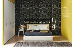 Camera Decor con Merkurio // Decor bedroom with Merkurio. (Credits: CASA BUDGET - HOME – aprile 2013 – Cristina Nava – Foto Stefania Giorgi)  #Beds #Bedroom #Letto #InteriorDesign #HomeDecor #Design #Arredamento #Furnishings